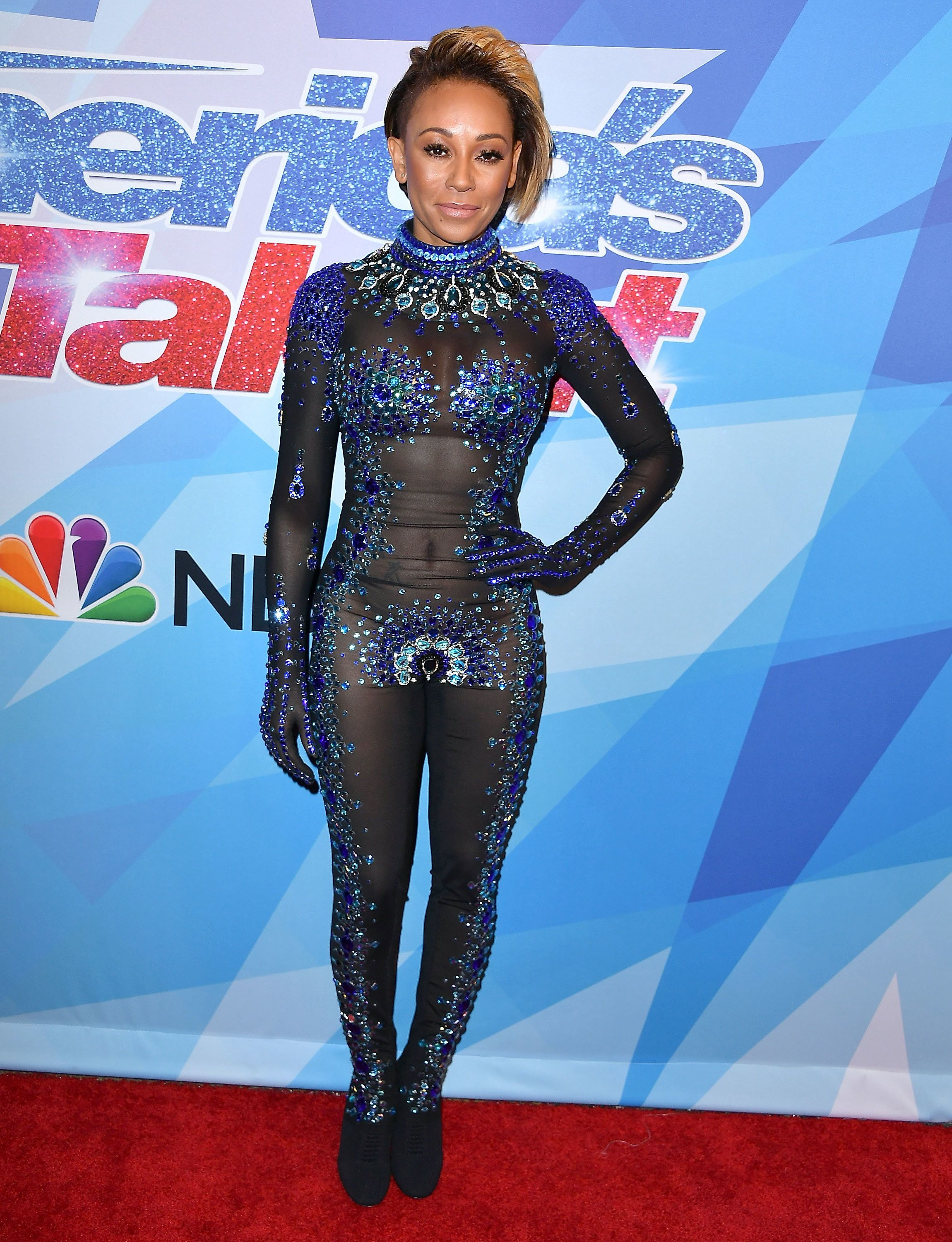 Mel B Gives Us Marvel Vibes In Her Nearly-Naked Get-Up On 'America's Got Talent'
