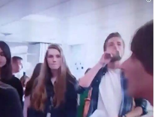 Student Spotted Swigging From Hip Flask On Live TV After Opening A Level