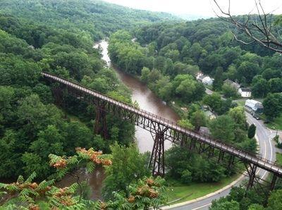 <p>The Rosendale Trestle Bridge on the Wallkill Valley Rail Trail.</p>