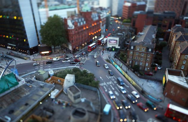 The collision occurred near Old Street roundabout in the east of