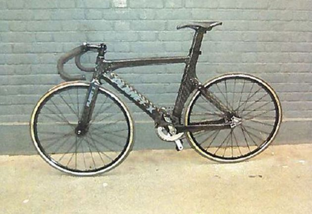 Alliston bought the £700 Planet X bike, pictured, second-hand for £470 a month before the