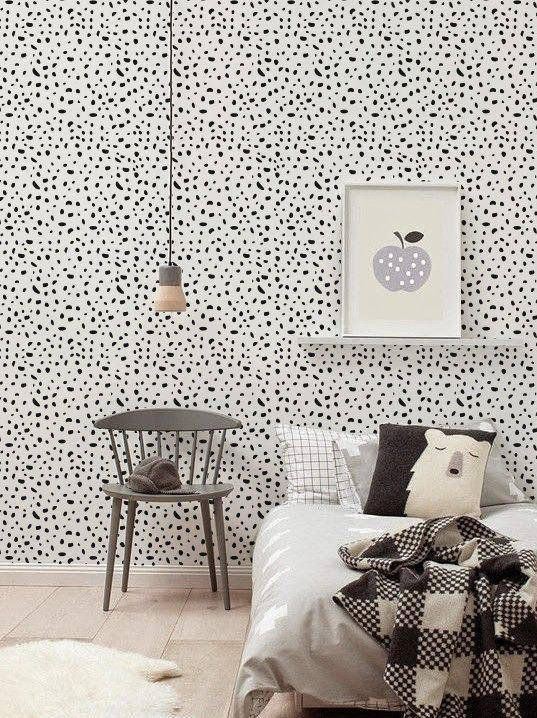 """White bedroom walls got you feeling down? Try easy-to-use <a href=""""https://www.etsy.com/listing/232461956/self-adhesive-vinyl"""