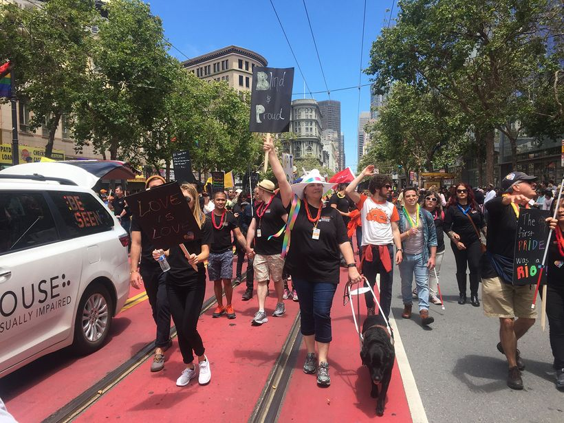 LightHouse for the Blind and Visually Impaired had a contingent at this year's San Francisco LGBT Pride parade.