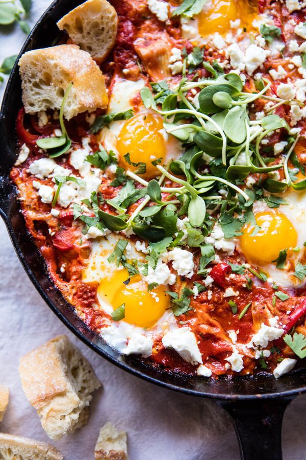 "<strong>Get the <a href=""https://www.halfbakedharvest.com/artichoke-shakshuka/"" target=""_blank"">Artichoke Shakshuka recipe</a"