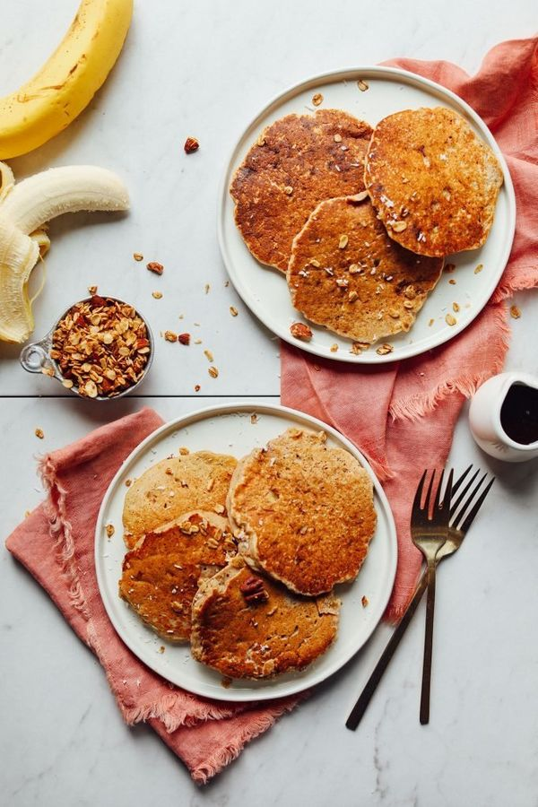 "<strong>Get the <a href=""https://minimalistbaker.com/life-changing-banana-walnut-pancakes-gluten-free/"" target=""_blank"">Life-"