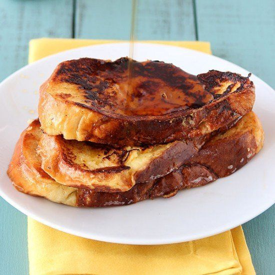 "<strong>Get the <a href=""https://www.handletheheat.com/challah-french-toast/"" target=""_blank"">Challah French Toast recipe</a>"