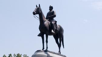 The Gen. Thomas 'Stonewall' Jackson Monument is located on Monument Avenue in Richmond, Virginia. The equestrian statue of the famed Confederate general was created by sculptor Frederick William Sievers.  (Photo by Chuck Myers/MCT/MCT via Getty Images)
