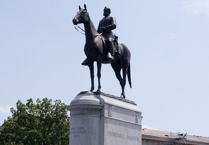 The Gen. Thomas 'Stonewall' Jackson Monument is located on Monument Avenue in Richmond, Virginia. The equestrian statue of th
