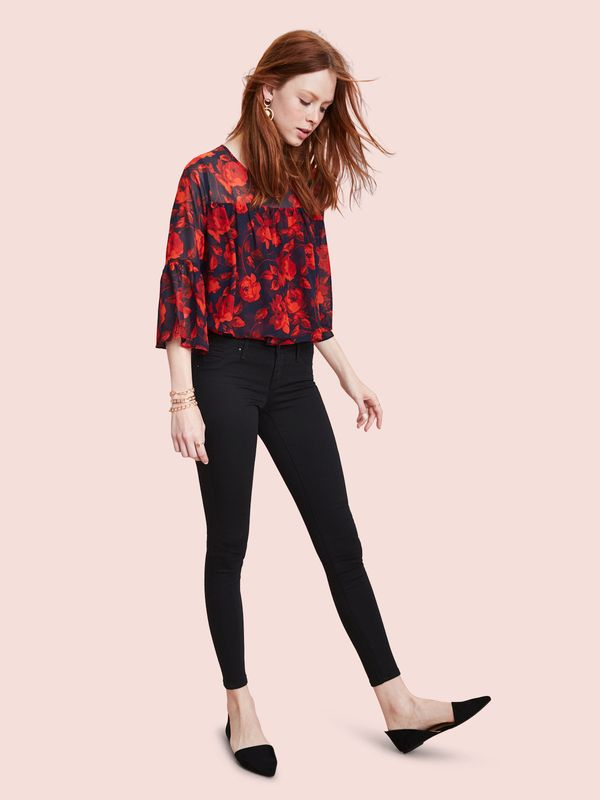 Floral peasant blouse, starting at $24.99