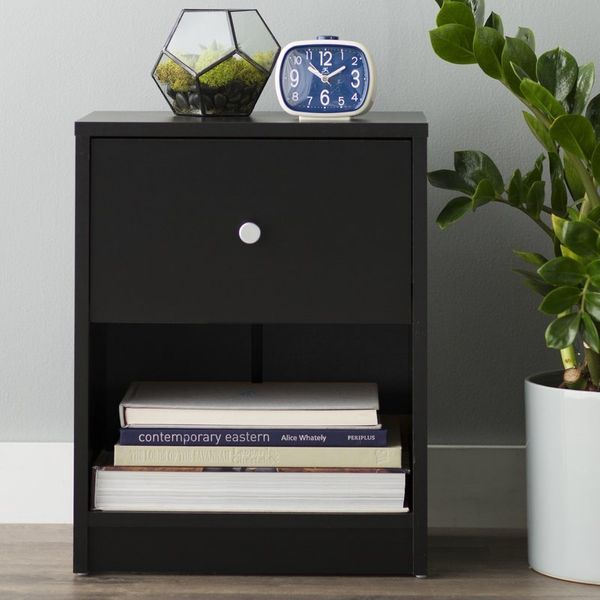 17 cheap nightstands that look expensive huffpost for Inexpensive night stands