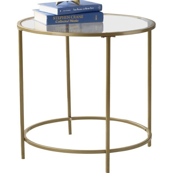 Cheap Nightstands That Look Expensive HuffPost - Wayfair gold end table