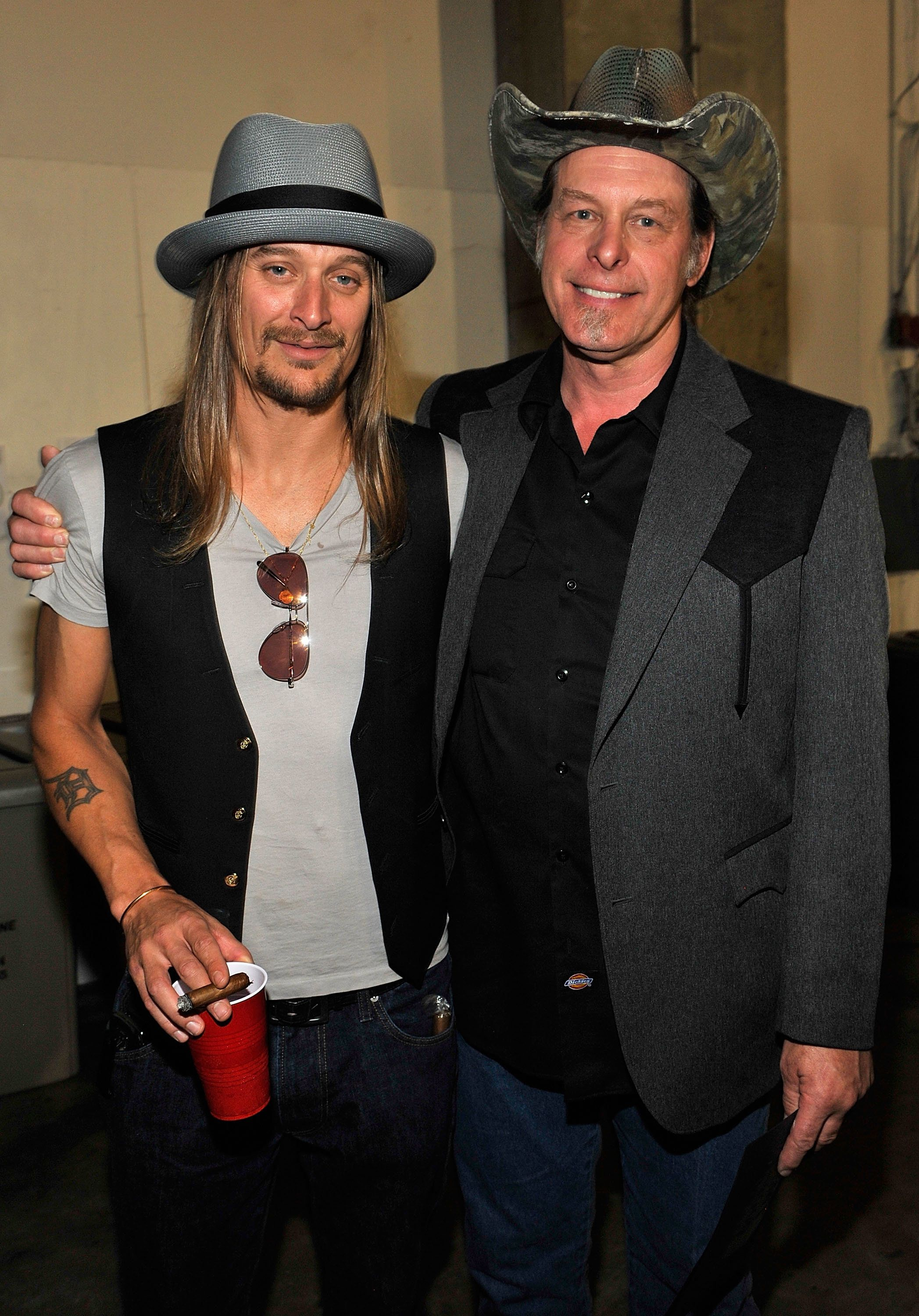 NASHVILLE, TN - JUNE 16:  Kid Rock and Ted Nugent attend the 2009 CMT Music Awards at the Sommet Center on June 16, 2009 in Nashville, Tennessee.  (Photo by Kevin Mazur/WireImage)