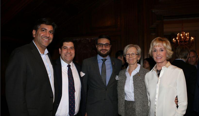 (Aneesh Chopra, Matt Lira, Ambassador of Afghanistan, Dr. Hamdullah Mohib, Ambassador of Finland, Kirsti Kauppi, Coach Kathy