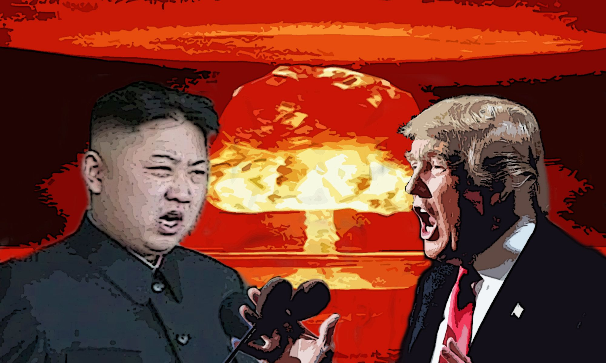 Donald Trump and Kim Jong Un have been engaged in a tense war of words.