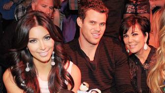 LAS VEGAS, NV - OCTOBER 22:  (EXCLUSIVE COVERAGE)  Kim Kardashian, Kris Humphries and Kris Jenner celebrate Kim Kardashian's birthday at Marquee Nightclun at the Cosmopolitan on October 22, 2011 in Las Vegas, Nevada.  (Photo by Denise Truscello/WireImage)