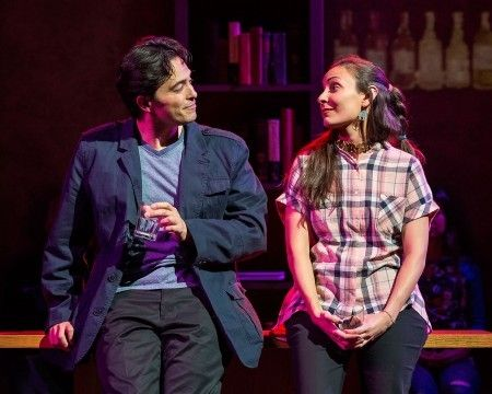 <p>Randy, played by Jason Grasl (Blackfeet), and Erin, played by Kyla Garcia (Taíno), at a happier point in <em>Fairly Traceable. </em>Mary Kathryn Nagle's play premiered in Los Angeles in March 2017.</p>