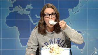 Tina Fey Absolutely Destroys Nazis, Trump & Paul Ryan While Eating A Sheet Cake