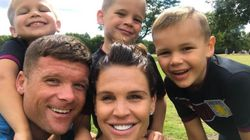 Danielle Lloyd Finds An Impressive Way To Fit Four Kids' Seats In The Back Of Her