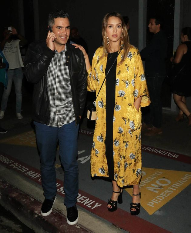 Jessica Alba and her husband, Cash Warren, in Los Angeles on Aug.