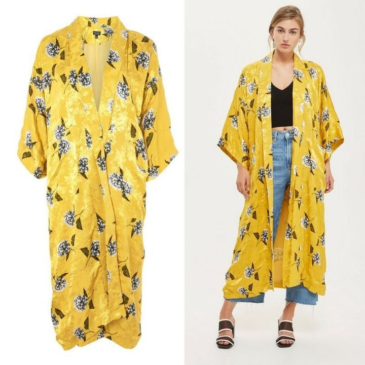 The kimono is currently sold out on Topshop's U.K. website.