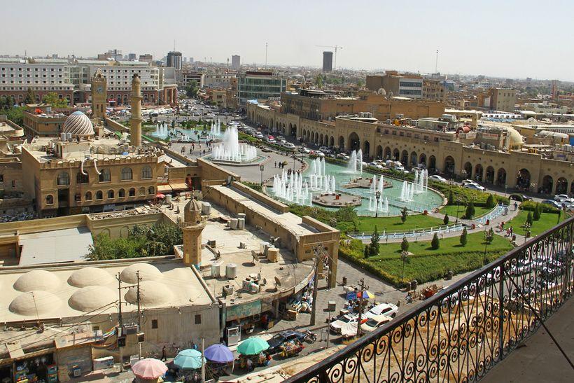 <em>The Kurdish capital of Erbil.</em>