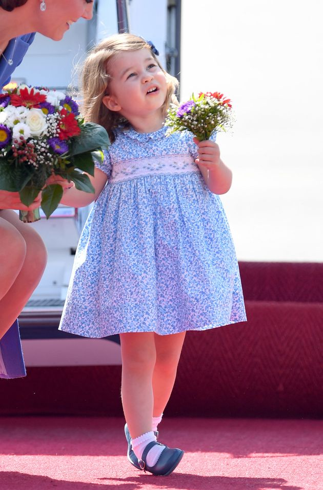 Princess Charlotte makes the perfect flower
