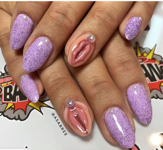 This Vagina Nail Art Is Perfect For When The Patriarchy's Got You