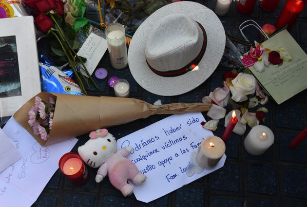 Tributes left for the victims of the