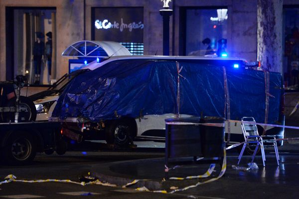 The van that drove into the crowd killing 13 people and injuring more than 100.