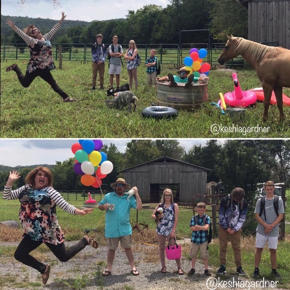 Keshia Gardner's family took hilarious photos in honor of back-to-school season.