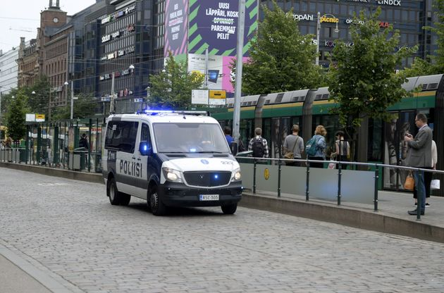 Finnish police patrol the streets, after stabbings in