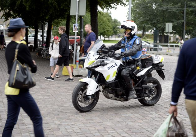 Finnish police patrols on motorbike after stabbings in
