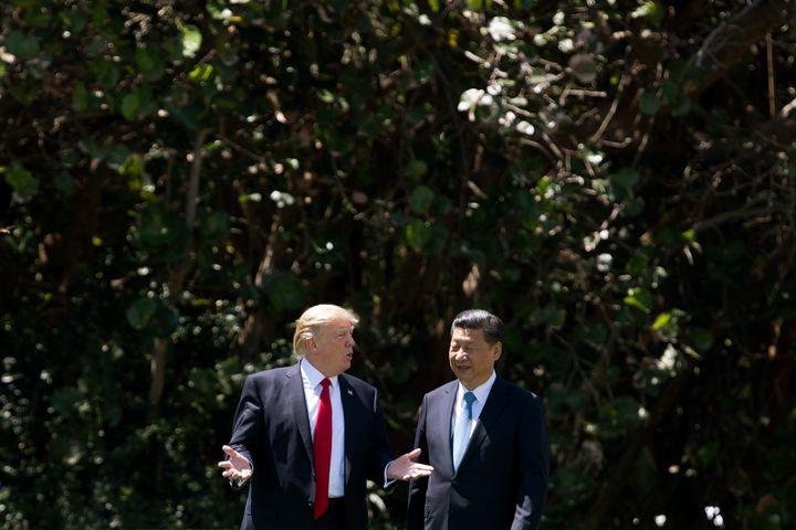 Trump and Xi Jinping in Florida on April 7.