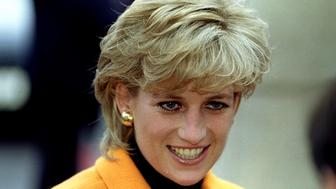 Diana, Princess of Wales arrives at Liverpool Women's Hospital for an official visit November 7
