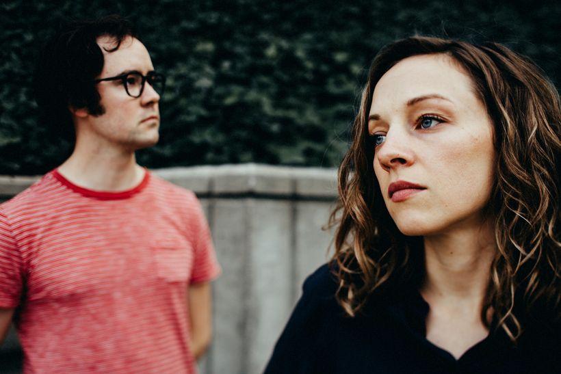 Andrew Marlin (left) and Emily Frantz bring Mandolin Orange to the Rocky Mountain Folks Festival on Saturday.