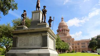 The Confederate Soldiers Monument was erected in 1903 in front of the main entrance to the Texas Capitol Roque Planas/HuffPost