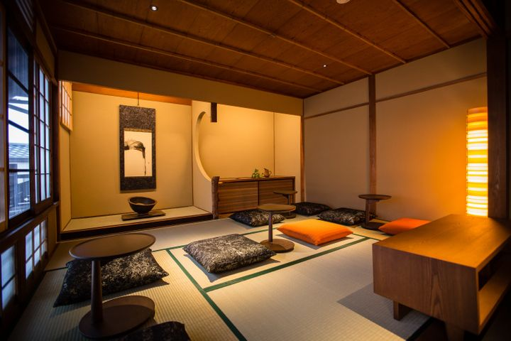 This Kyoto Starbucks features rooms with tatami mats.