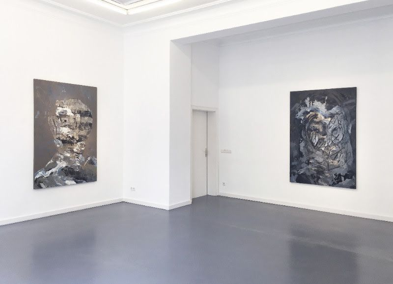left: EUGENE LEMAY, untitled, 2017, oil on canvas, 72 x 48 inch | 183 x 122 cm / right: EUGENE LEMAY, untitled, 2017, oi
