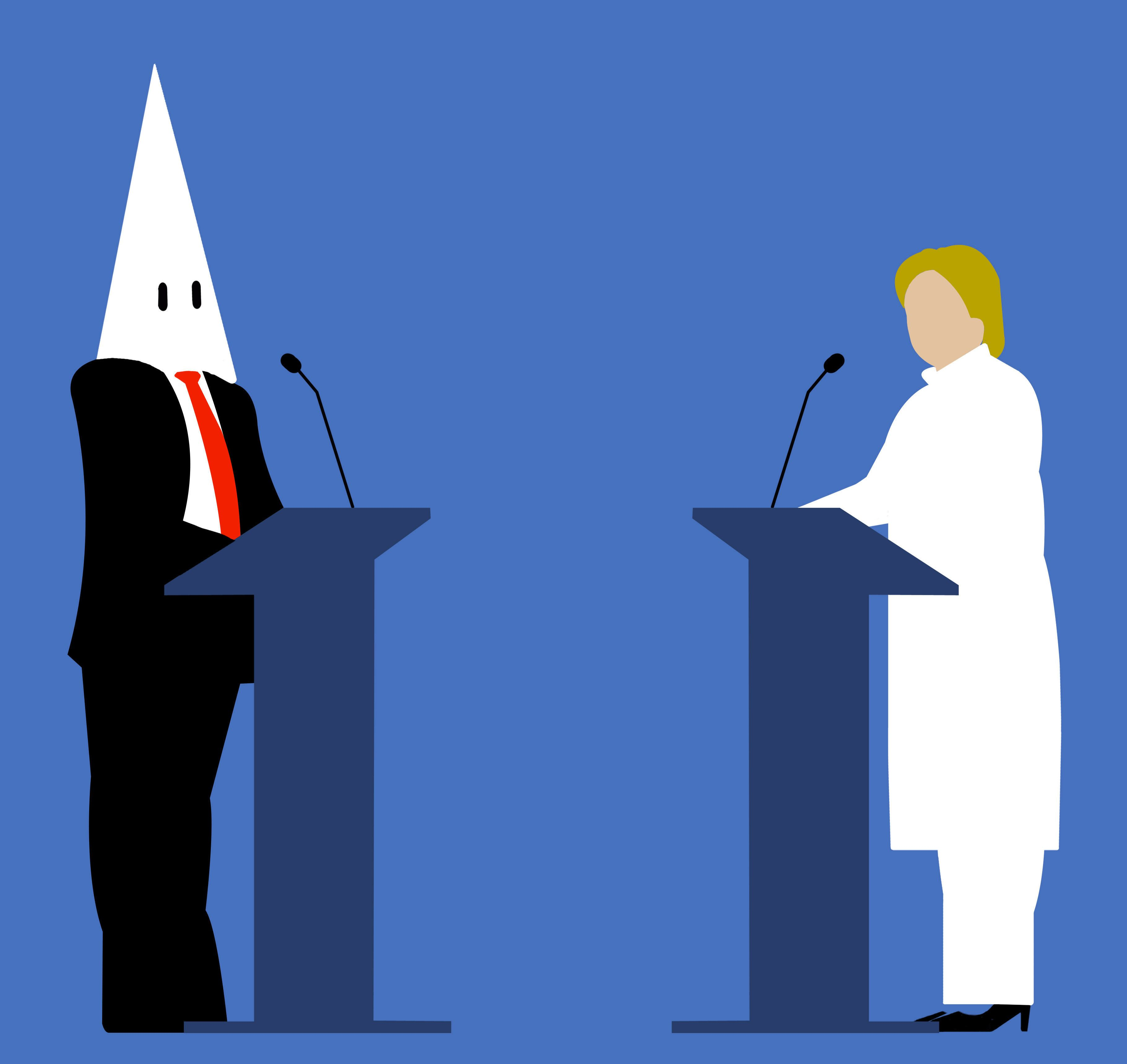 Economist Cover Shows Trump Using KKK Hood As Megaphone