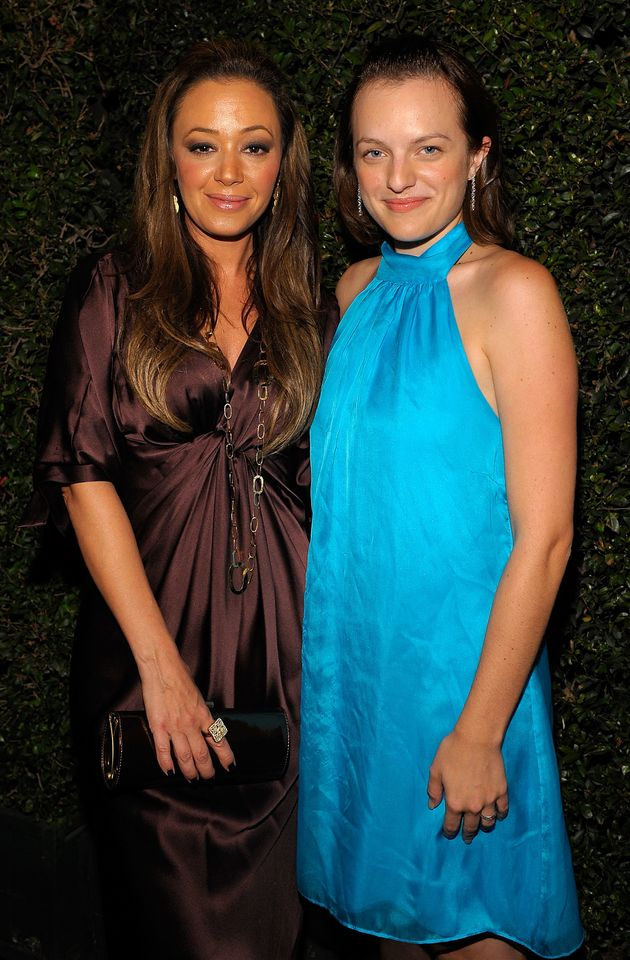 Leah Remini and Elisabeth Moss at a Church of Scientology anniversary gala in