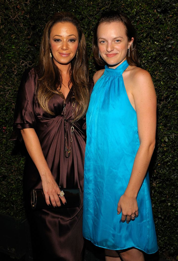 Leah Remini and Elisabeth Moss at a Church of Scientology anniversary gala in 2008.