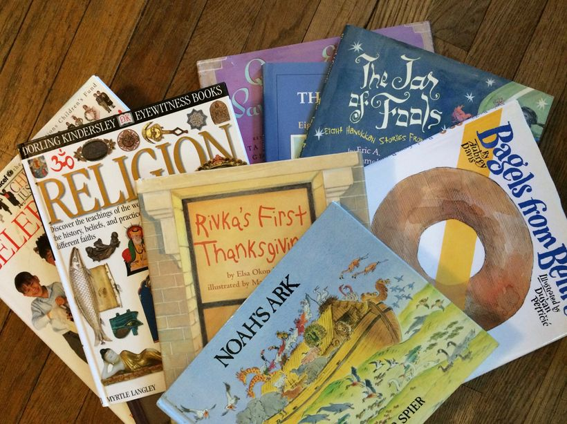 <em>Books read by the author</em>'s<em> interfaith kids. </em>