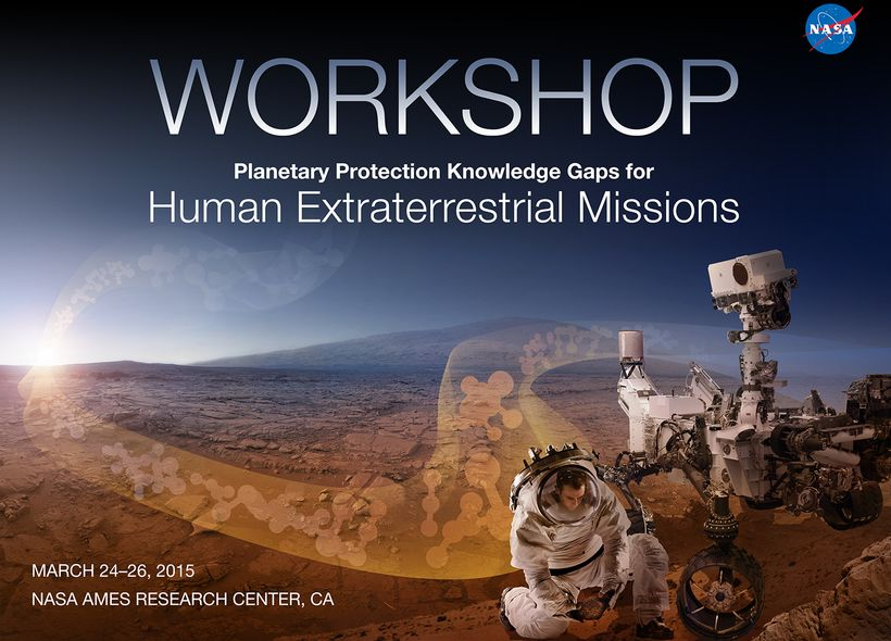 """Slide from the """"Workshop on Planetary Protection Knowledge Gaps for Human Extraterrestrial Missions""""<em>        </em>hosted b"""