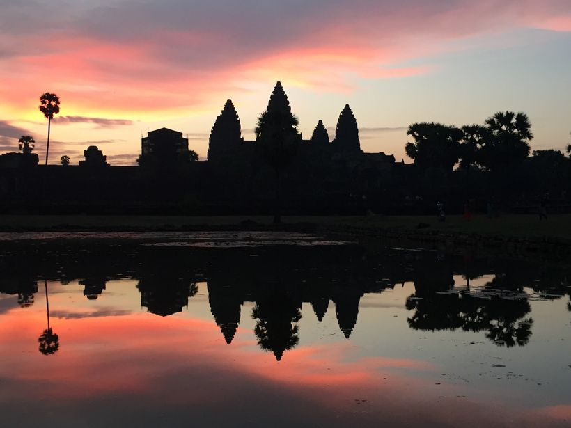 Sunrise over Angkor Wat Temple, Siem Reap Cambodia