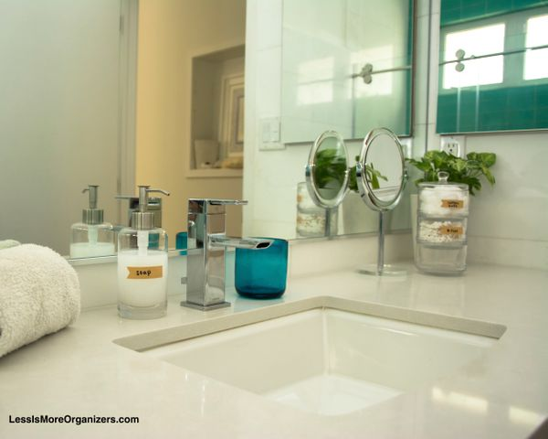 """Organizing the bathroom does not have to be an all-or-nothing activity. Instead of spending hours making the entire sp"