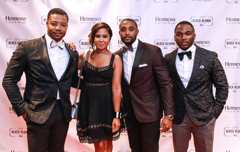 Pictured from left to right: Denaz Green, Angela Yee, Jarrett M. Walker and Jonathan King pose at the 2017 Black Alumni Ball