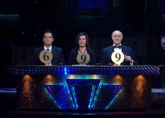 (Left-Right) Craig Revel Horwood, Arlene Phillips and Len
