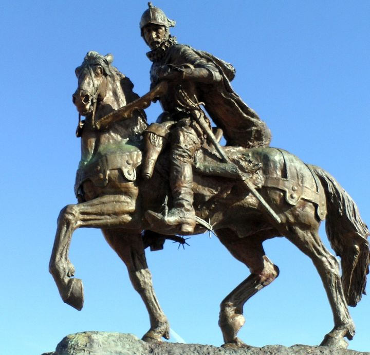 """Oñate Monument, Oñate Monument Center (Alcalde, New Mexico) Equestrian statue photo by <a rel=""""nofollow"""" href=""""https://www.fl"""