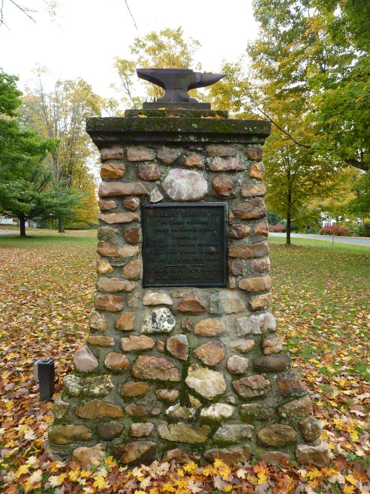 Monument to Elihu Burritt, the learned blacksmith, in New Marlboro, Mass
