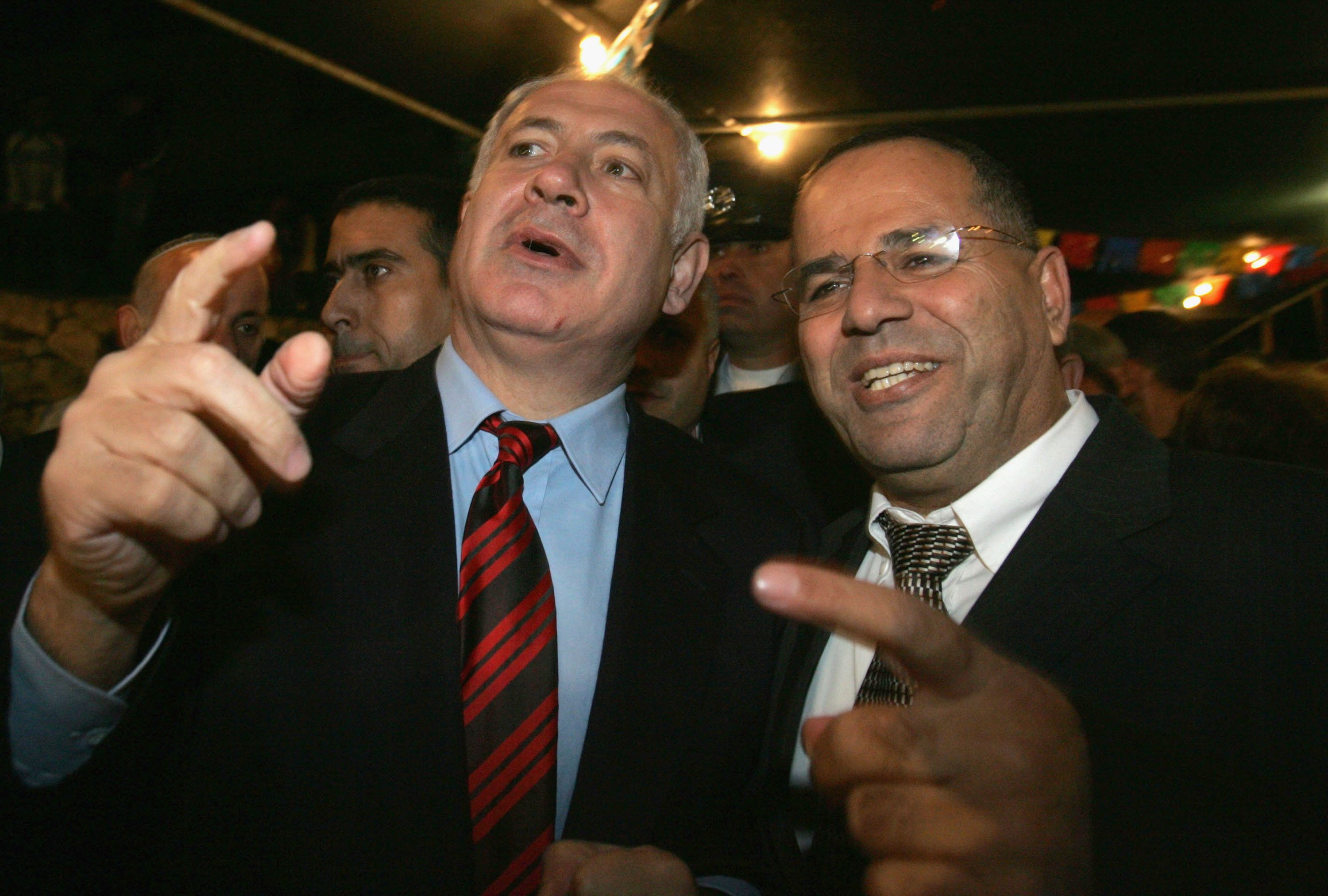 Benjamin Netanyahu (left) with Ayoub Kara, an Israeli-Druze politician, in 2005. Kara, responding to controversy over Donald
